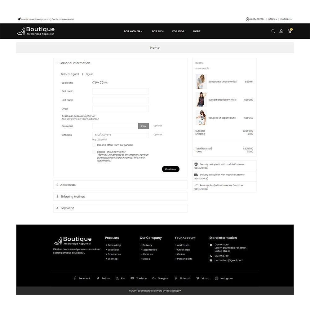 theme - Moda y Calzado - Boutique Fashion Light - 9