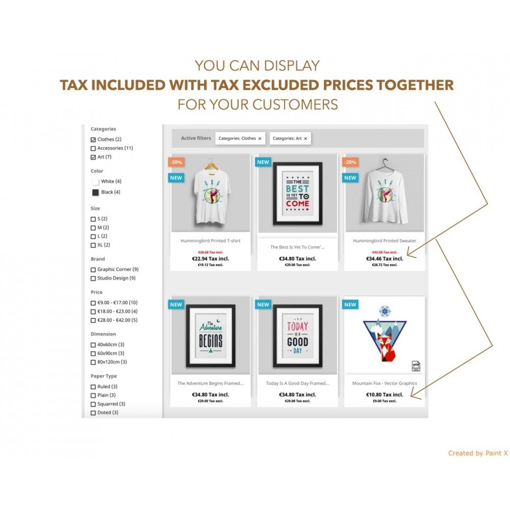 module - Gestão de preços - Advanced Dual Display of Tax Incl. and Tax Excl. Prices - 1