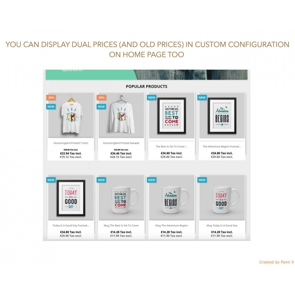module - Gestão de preços - Advanced Dual Display of Tax Incl. and Tax Excl. Prices - 5
