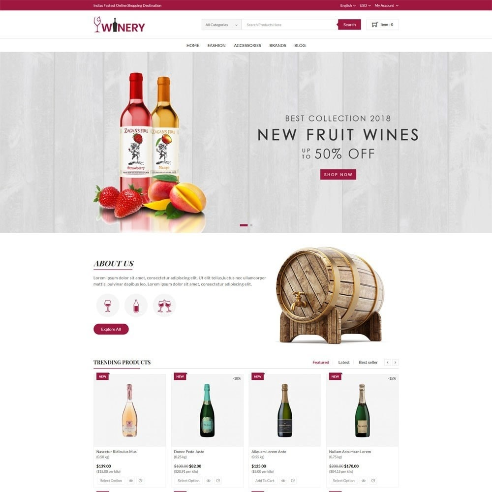 theme - Drink & Tobacco - Winery Store - 2