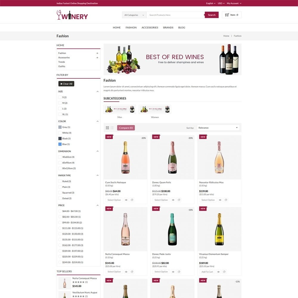 theme - Boissons & Tabac - Winery Store - 3