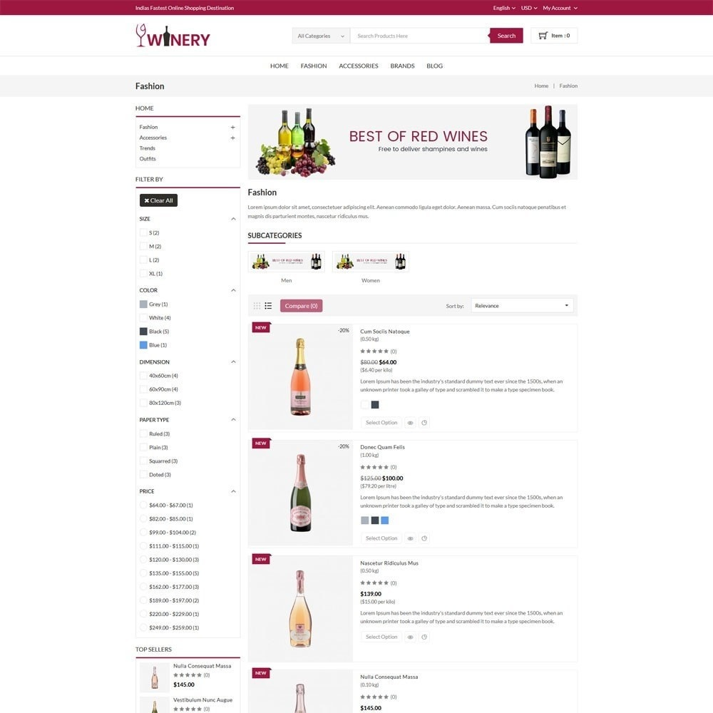 theme - Boissons & Tabac - Winery Store - 4
