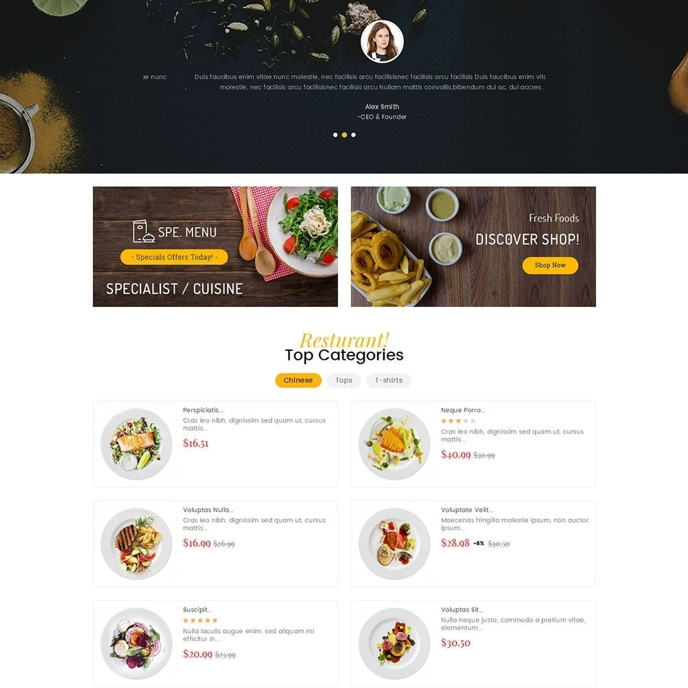 theme - Food & Restaurant - Gusto Food - 4