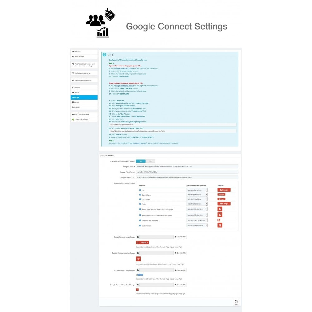 module - Inloggen - Social Connects + Coupons + Statistics 5 in 1 - 22