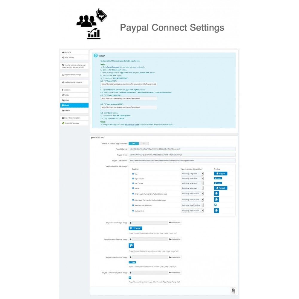 module - Inloggen - Social Connects + Coupons + Statistics 5 in 1 - 23