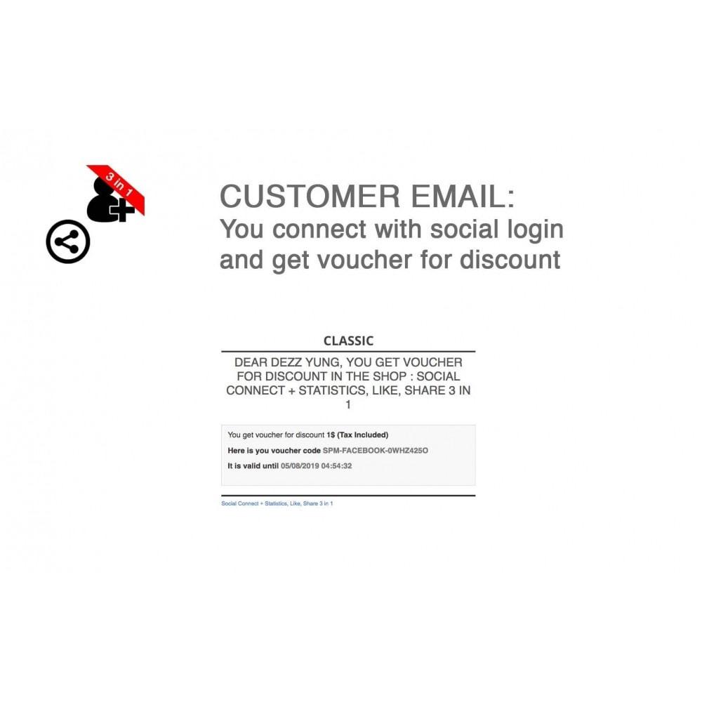 module - Boutons Login & Connect - Social Connect + Statistiques, J'aime, Partager 3 en 1 - 6