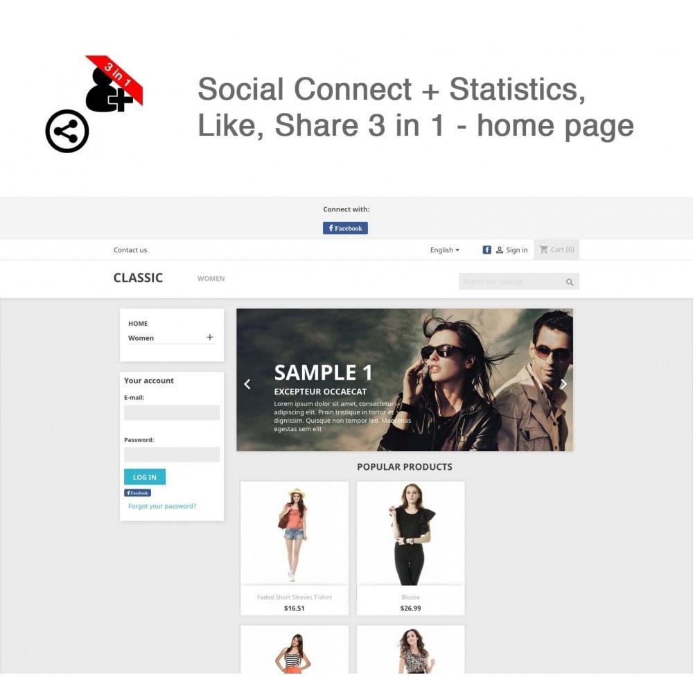 module - Boutons Login & Connect - Social Connect + Statistiques, J'aime, Partager 3 en 1 - 9