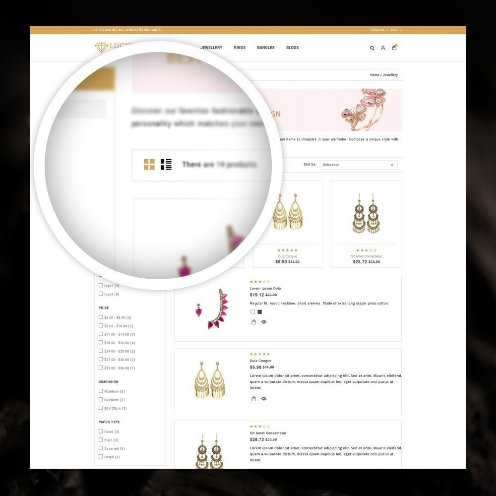 theme - Jewelry & Accessories - Lucky - The Jewelry shop - 3
