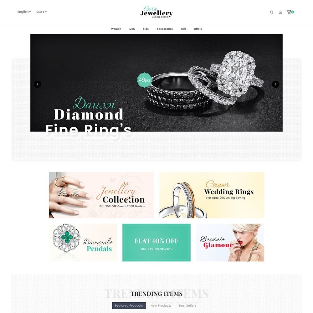 theme - Schmuck & Accesoires - Modern Jewelry Store - 2