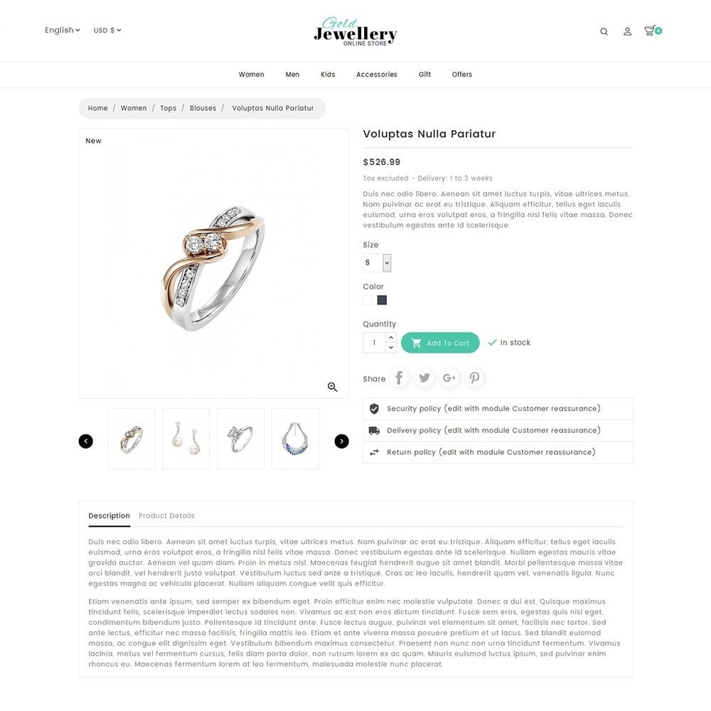 theme - Schmuck & Accesoires - Modern Jewelry Store - 7