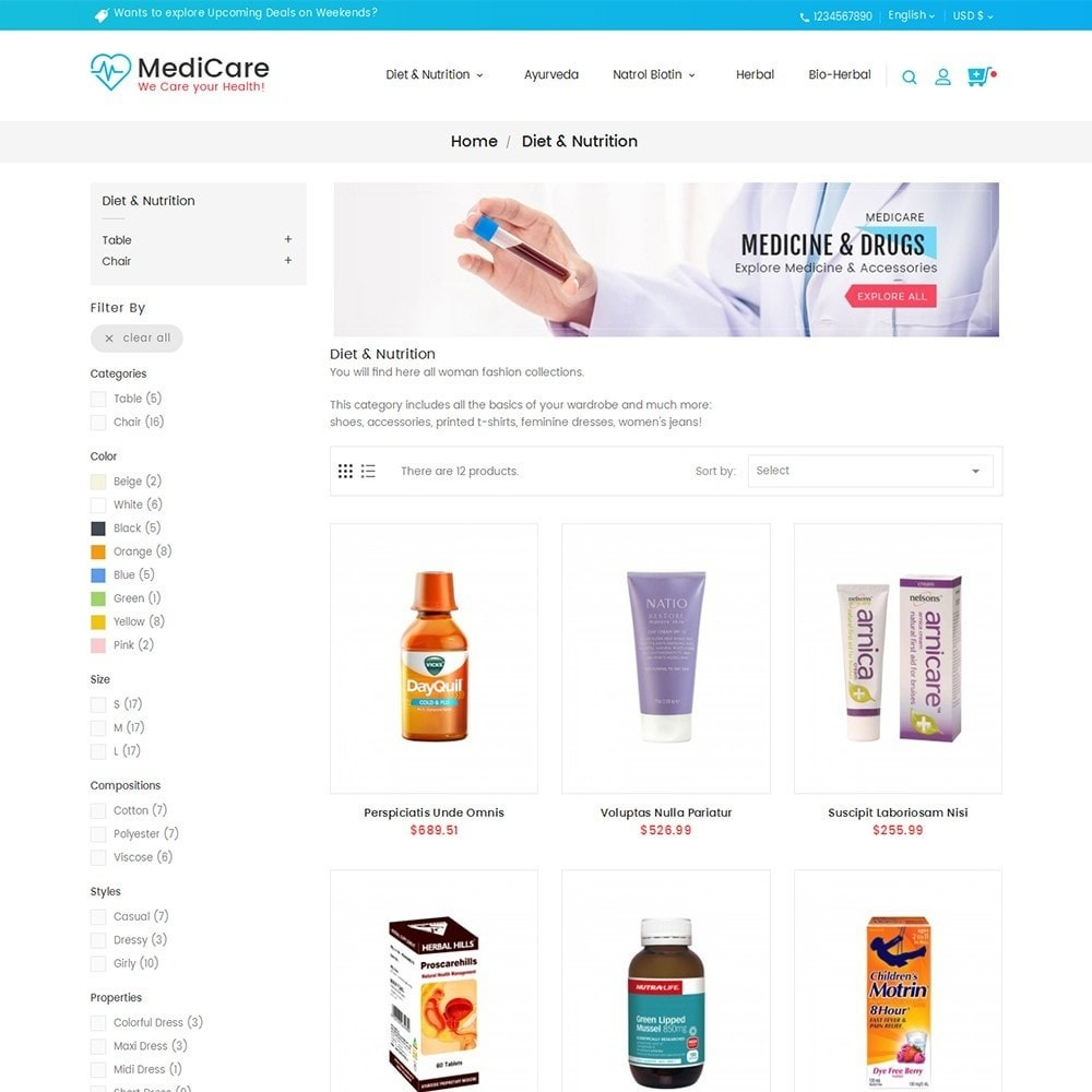 theme - Health & Beauty - Medicine Store - 5