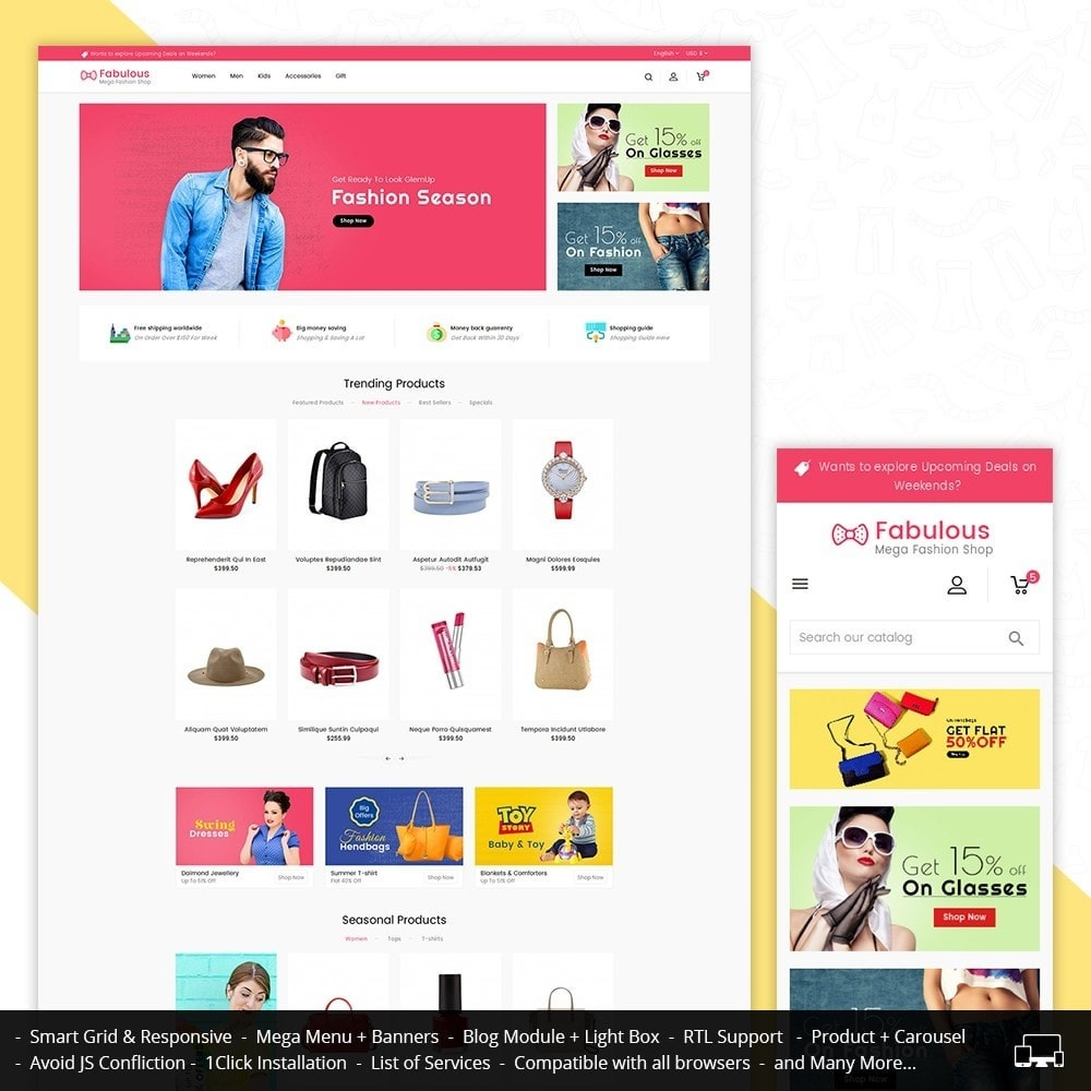 theme - Moda & Obuwie - Fabulous Fashion Store - 1