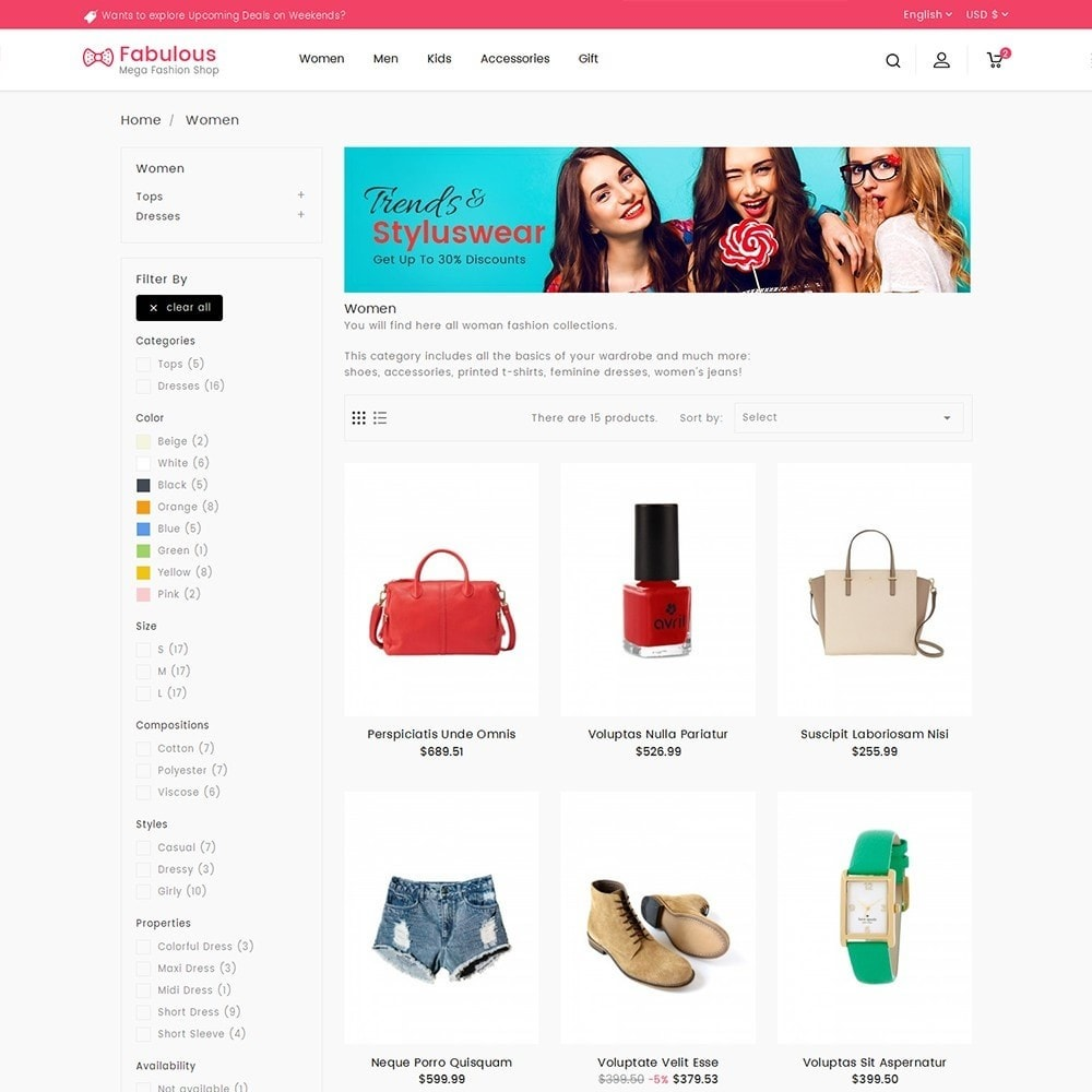 theme - Moda & Obuwie - Fabulous Fashion Store - 5