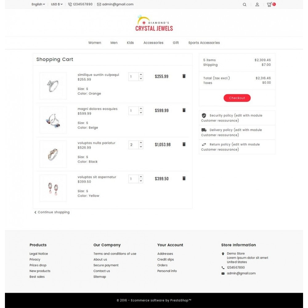 theme - Ювелирные изделия и Аксессуары - Crystal Jewelry Store - 8