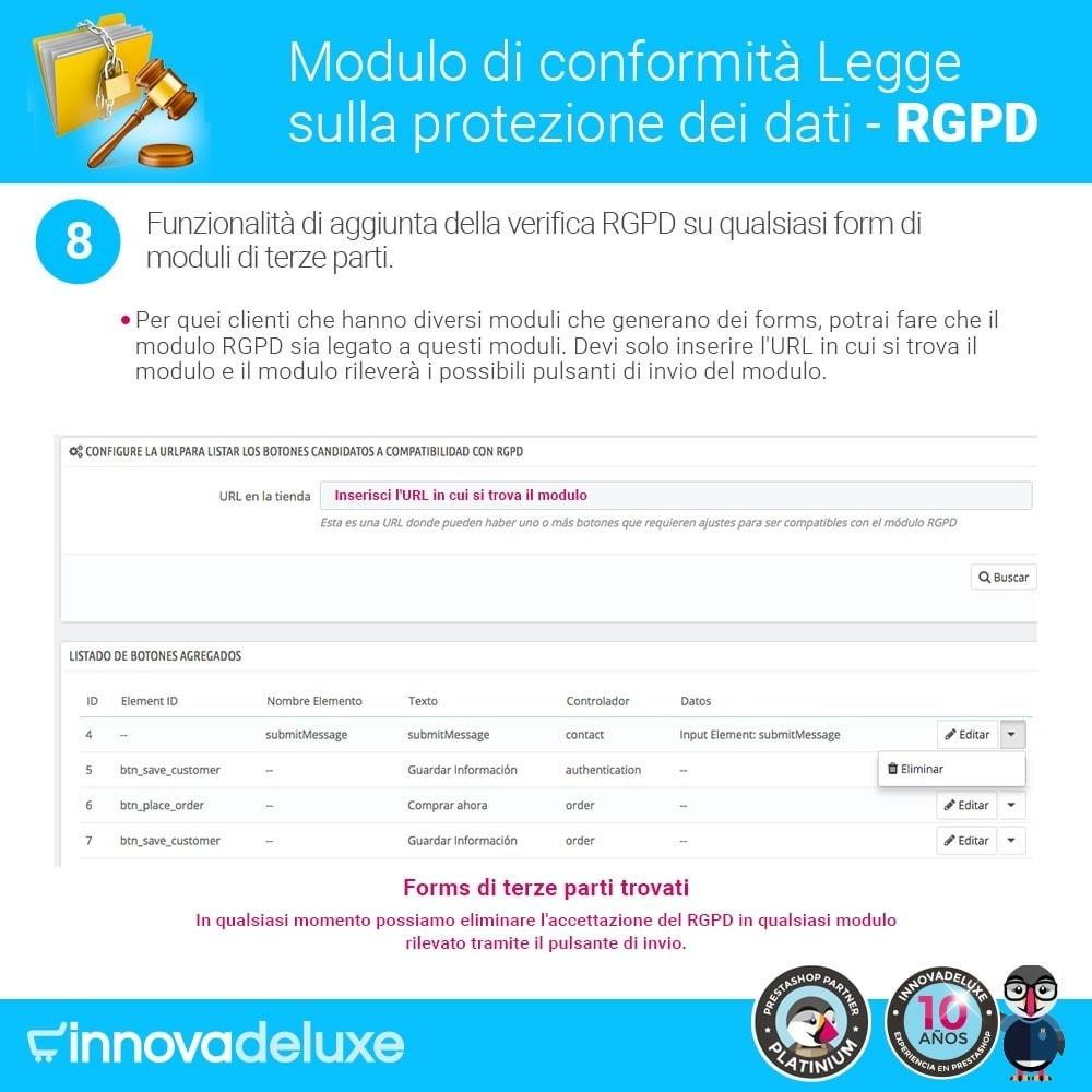 module - Legale (Legge Europea) - Codice in materia di Protezione dei Dati Personali RGPD - 15