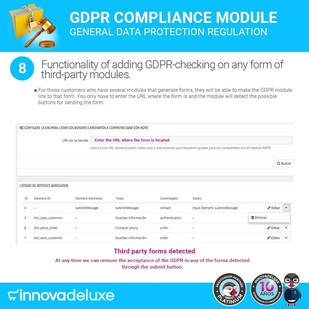 module - Wzmianki prawne - Data privacy extended (data protection law) - GDPR - 15
