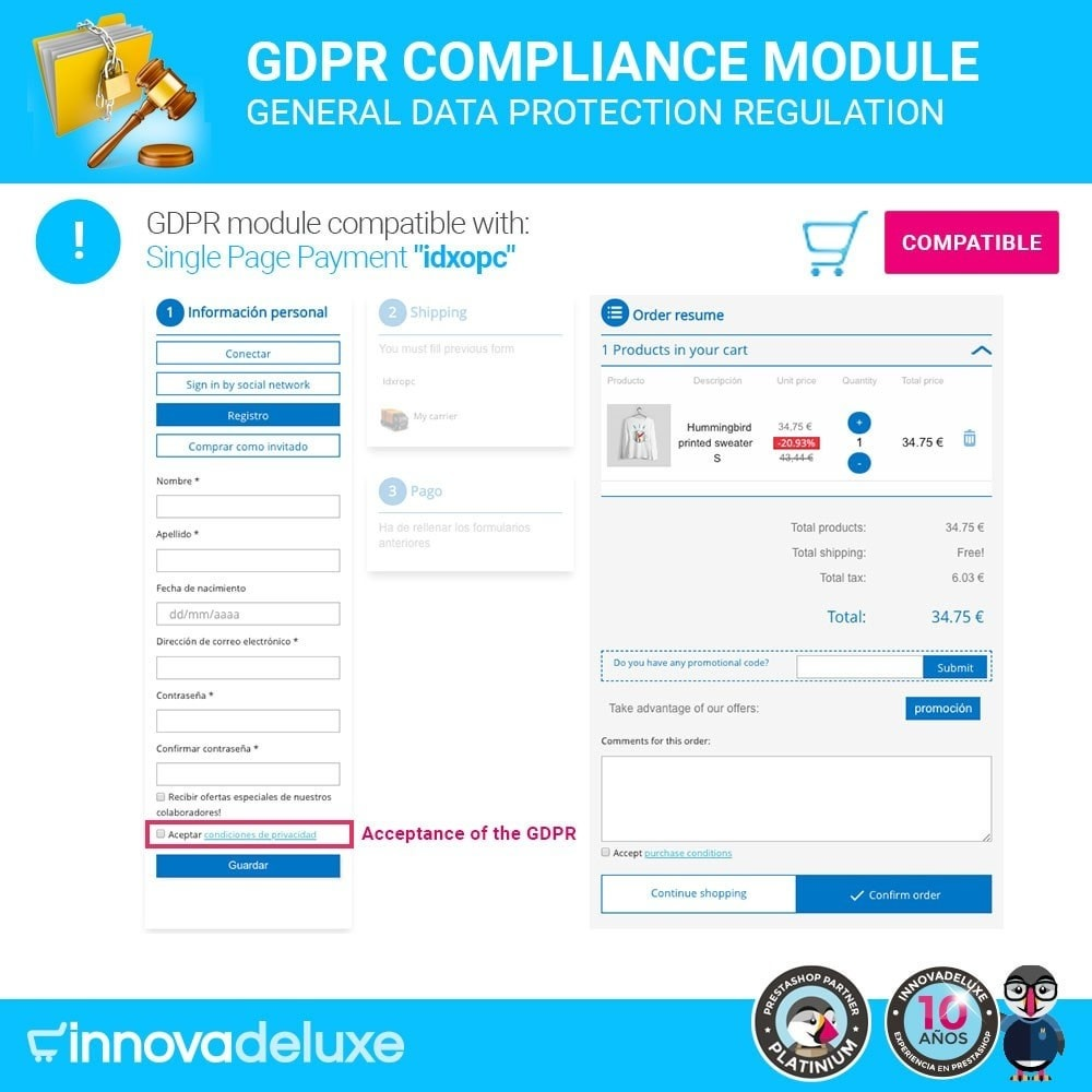 module - Wzmianki prawne - Data privacy extended (data protection law) - GDPR - 16