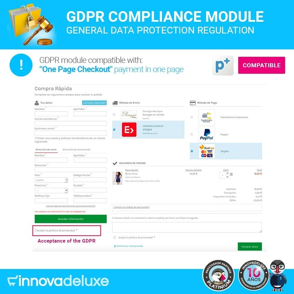 module - Wzmianki prawne - Data privacy extended (data protection law) - GDPR - 17