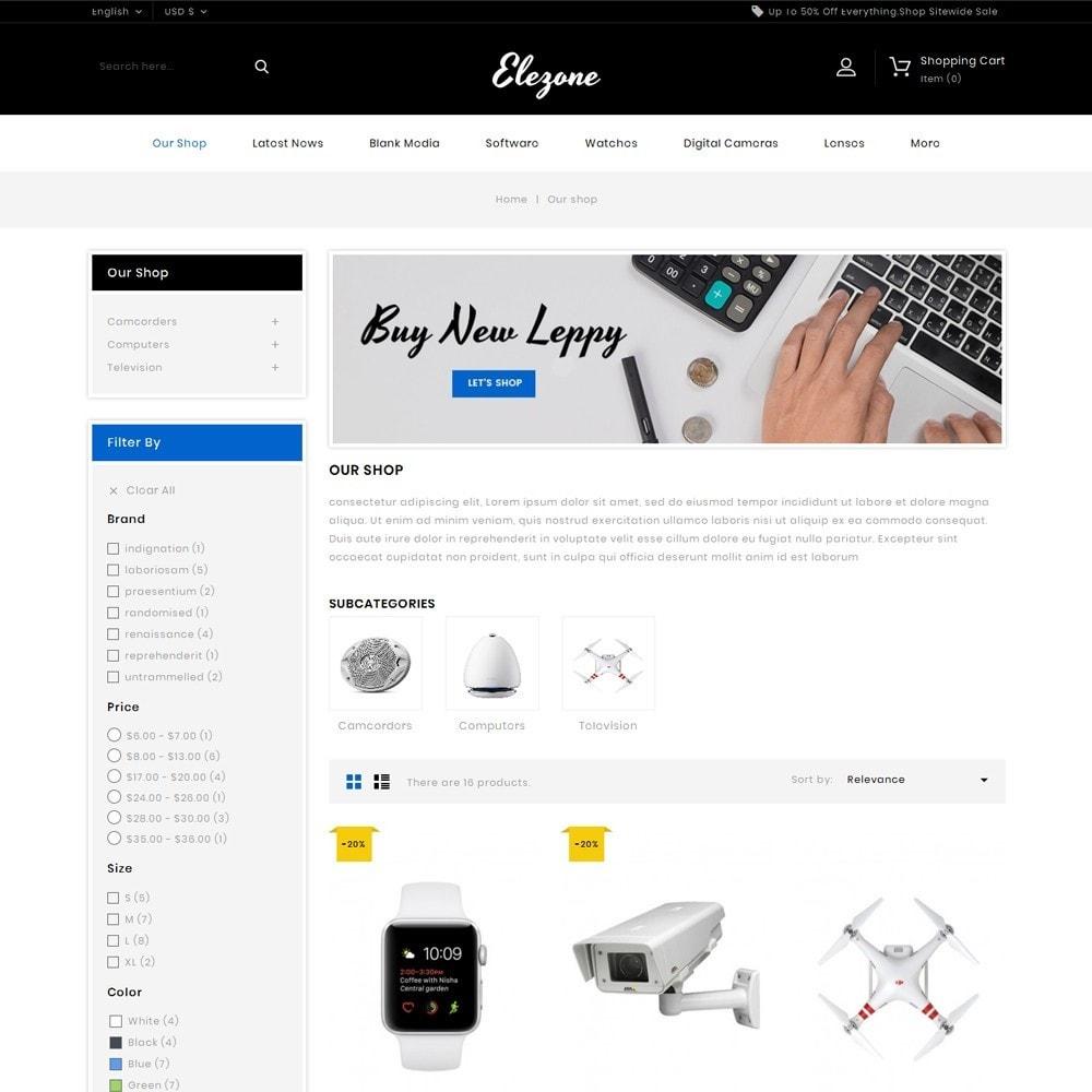 theme - Electronics & Computers - Elezone - The Electronic Store - 4