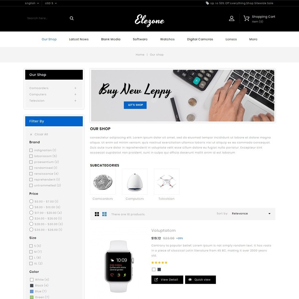 theme - Electronics & Computers - Elezone - The Electronic Store - 5