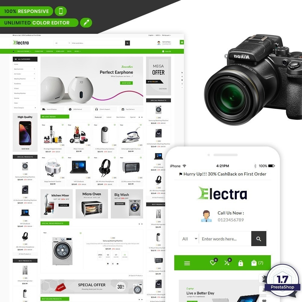 theme - Electronics & Computers - Electra – The Big Electronic Store - 1