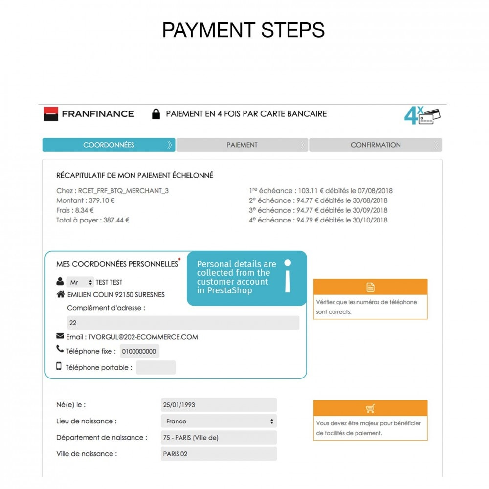 module - Creditcardbetaling of Walletbetaling - Payment solutions with Franfinance - 6