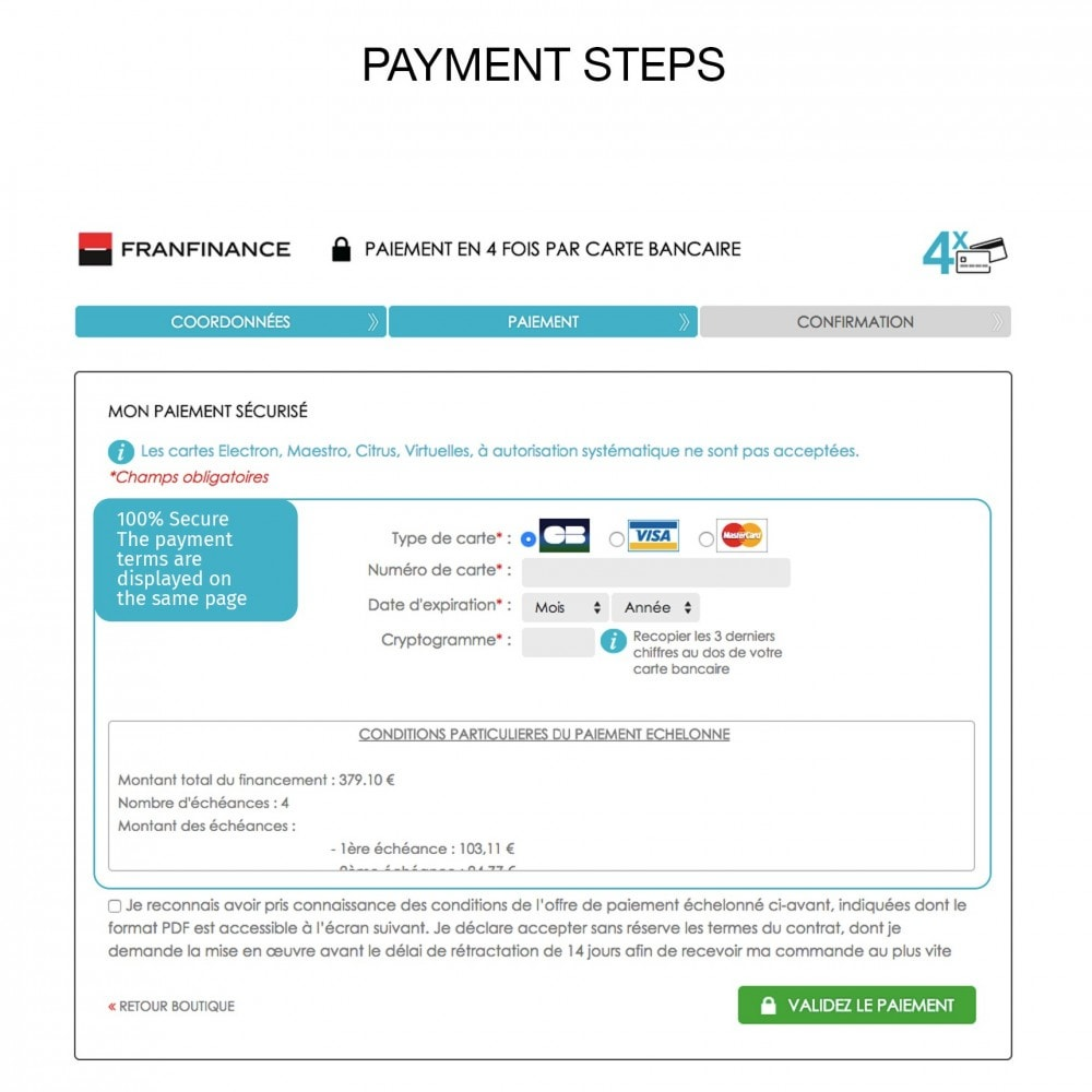 module - Creditcardbetaling of Walletbetaling - Payment solutions with Franfinance - 7