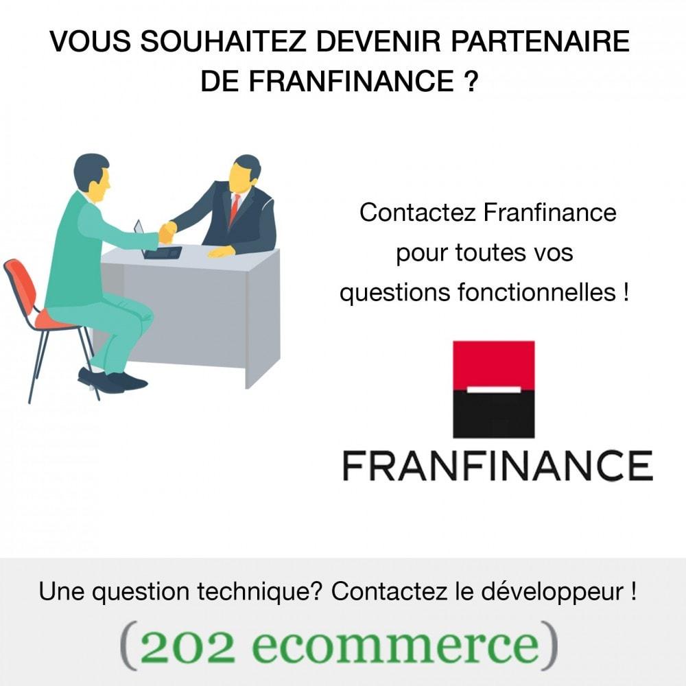 module - Paiement par Carte ou Wallet - Solutions de Paiement avec Franfinance - 9
