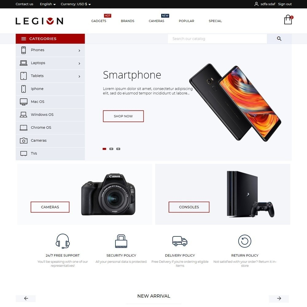 theme - Electronics & Computers - Legion - High-tech Shop - 2