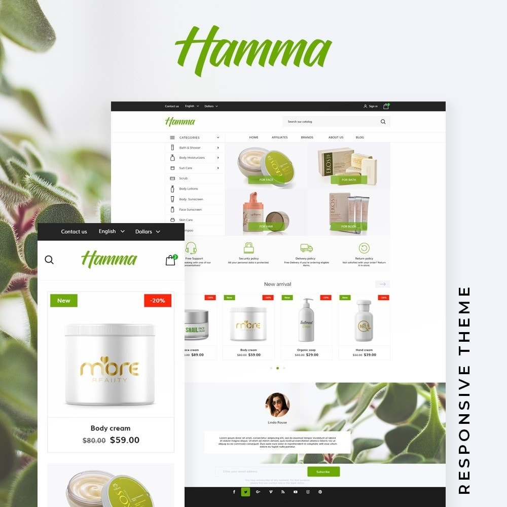 theme - Health & Beauty - Hamma Cosmetics - 1