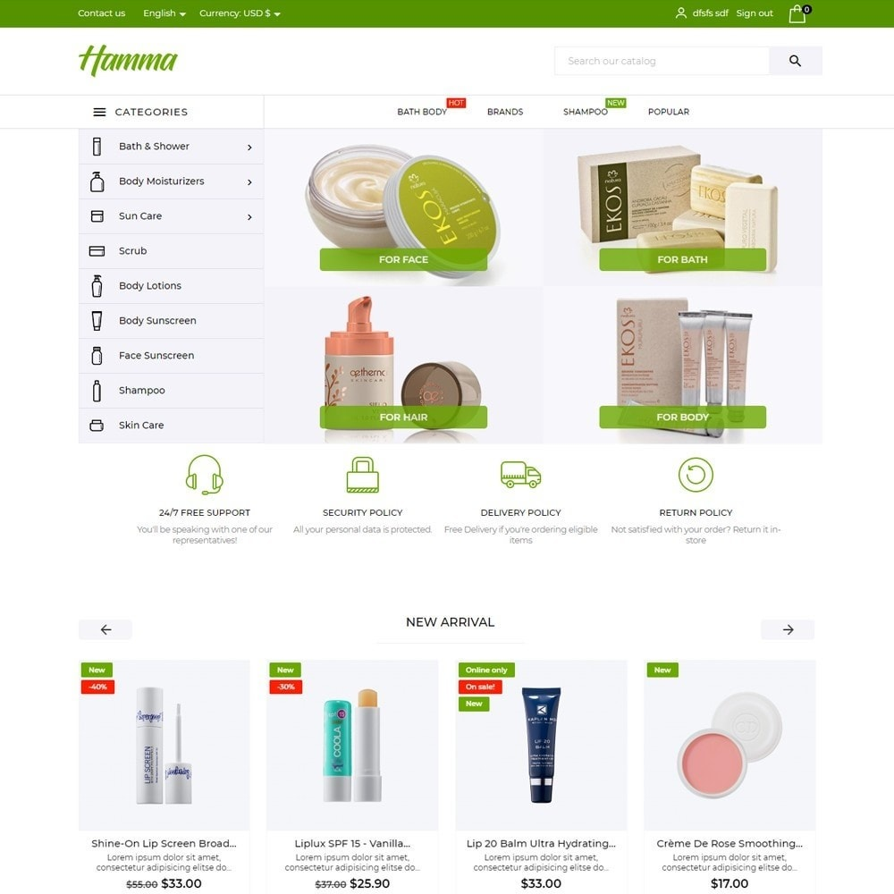 theme - Health & Beauty - Hamma Cosmetics - 2