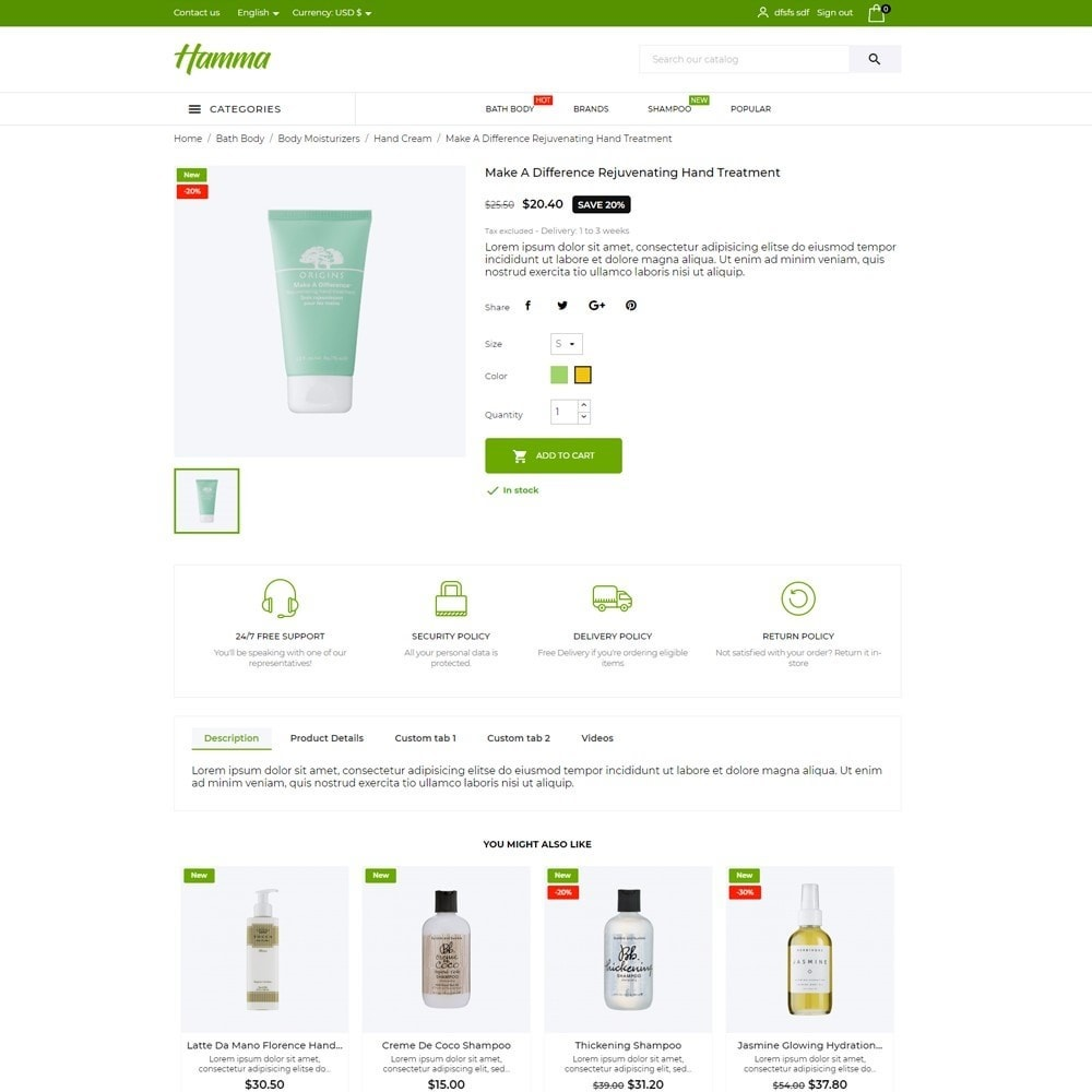 theme - Health & Beauty - Hamma Cosmetics - 6