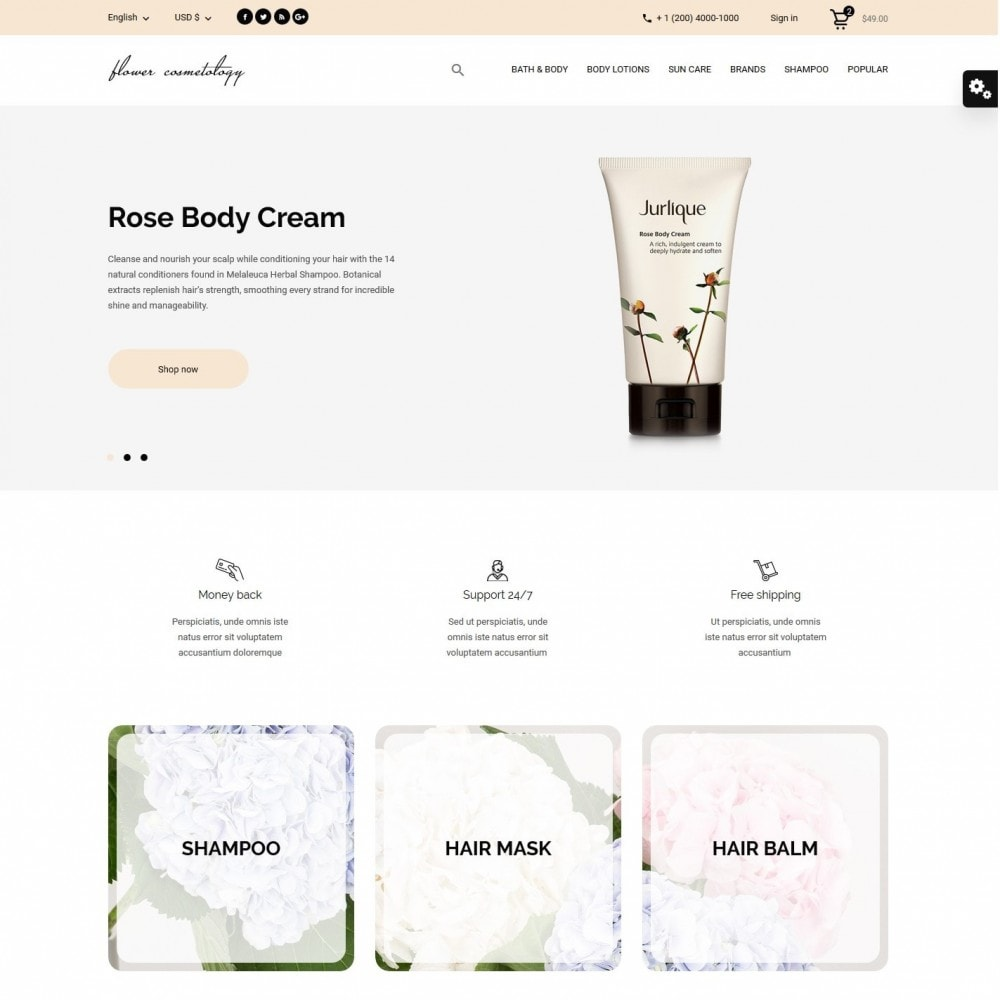 theme - Health & Beauty - FlowerCosmetology Cosmetics - 2