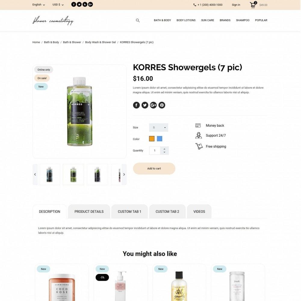 theme - Health & Beauty - FlowerCosmetology Cosmetics - 6