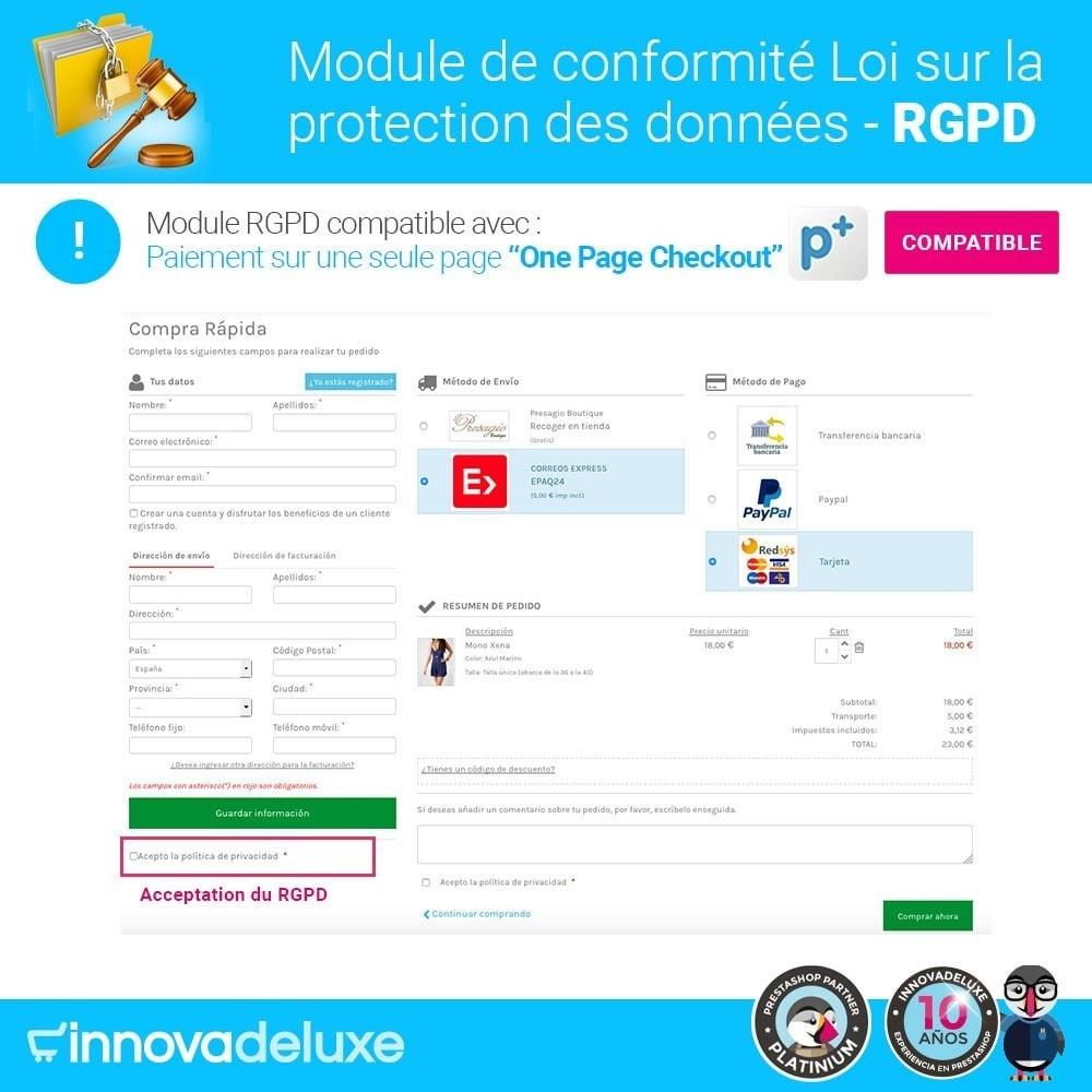module - Législation - Conformité à la Loi sur la protection des données RGPD - 17