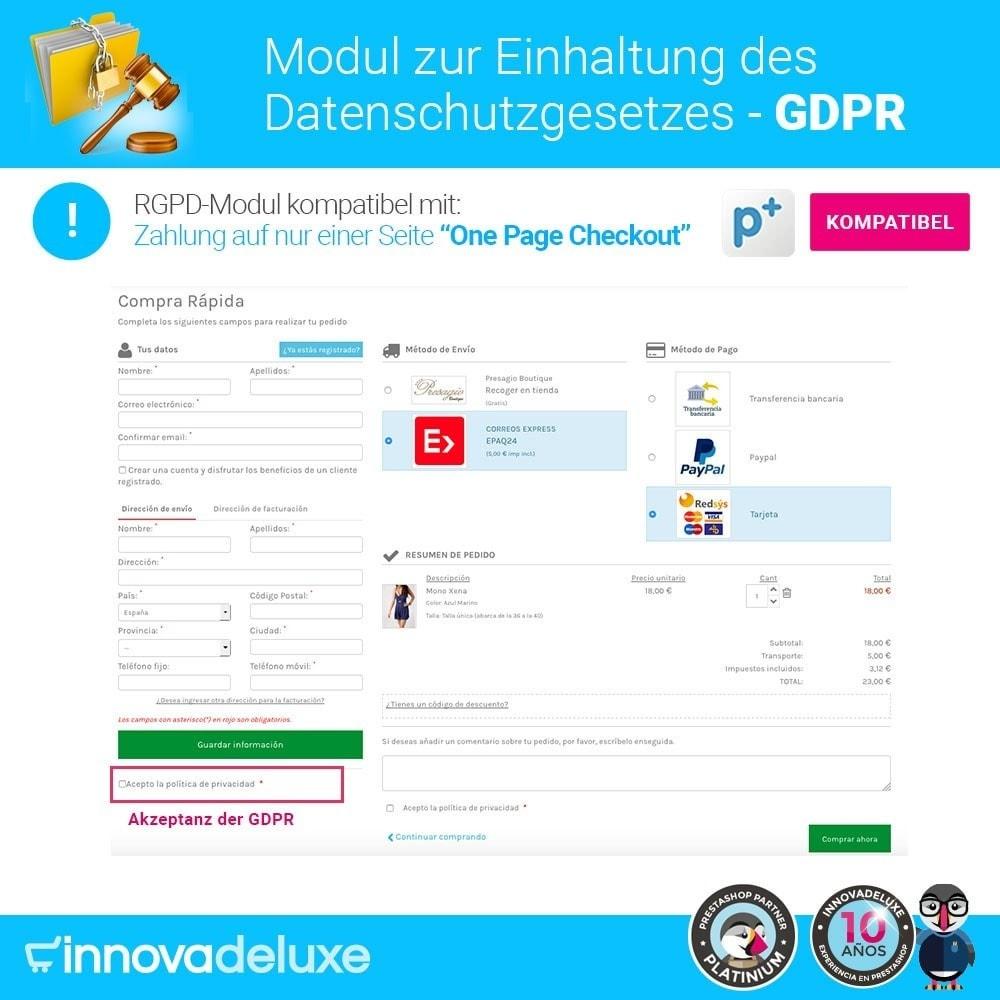 module - Rechtssicherheit - Einhaltung der Datenschutzgesetze - GDPR - 17