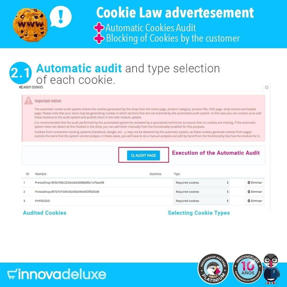 module - Wzmianki prawne - GDPR Cookies Law (Advice - Audit - Blocking) - 3
