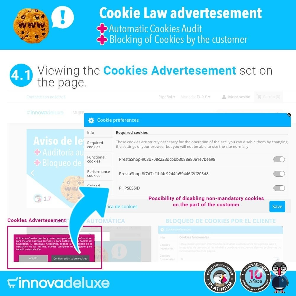 module - Wzmianki prawne - GDPR Cookies Law (Advice - Audit - Blocking) - 6