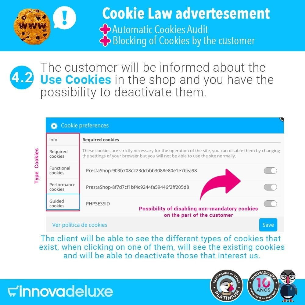 module - Wzmianki prawne - GDPR Cookies Law (Advice - Audit - Blocking) - 7