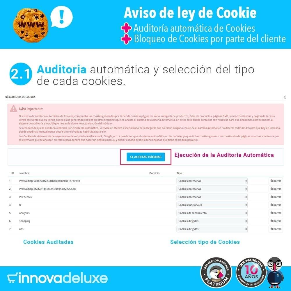 module - Marco Legal (Ley Europea) - Ley de Cookies RGPD/LOPD (Aviso - Auditoría - Bloqueo) - 3