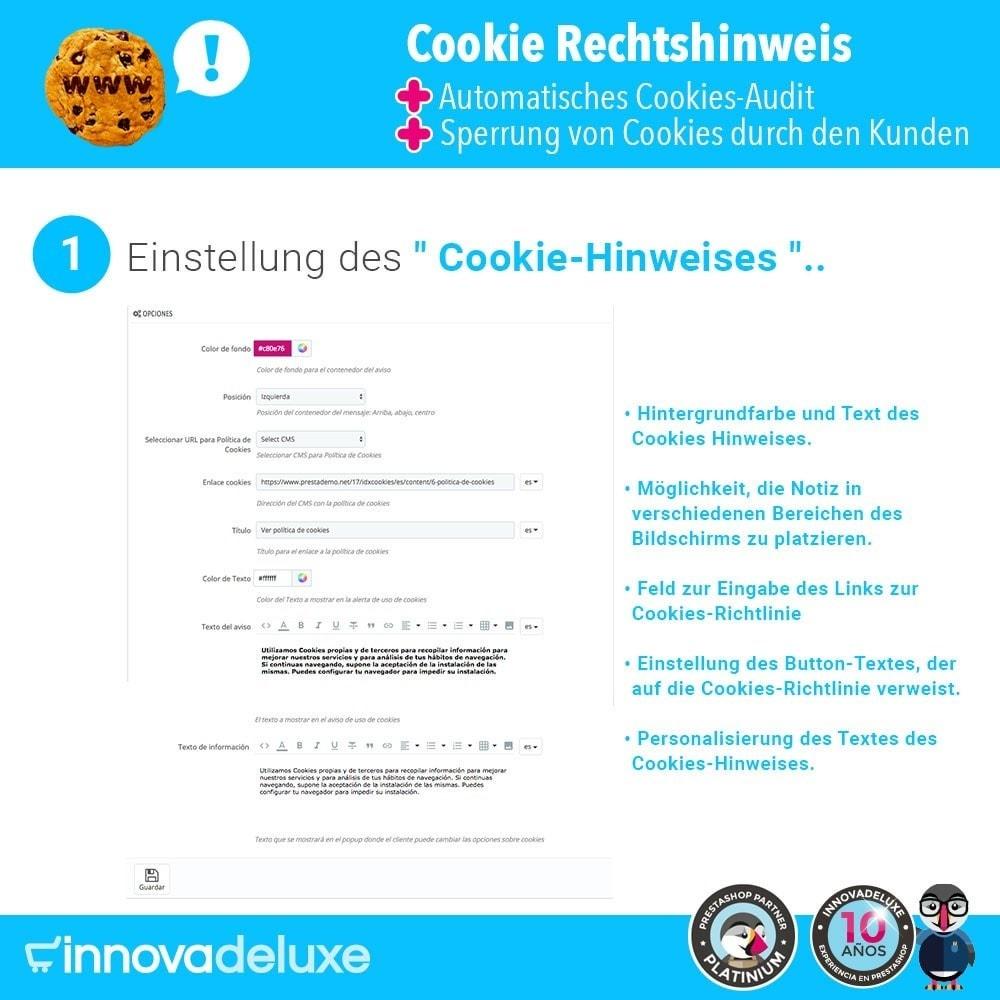 module - Rechtssicherheit - GDPR-Cookies-Gesetz (Hinweis - Audit - Sperrung) - 2