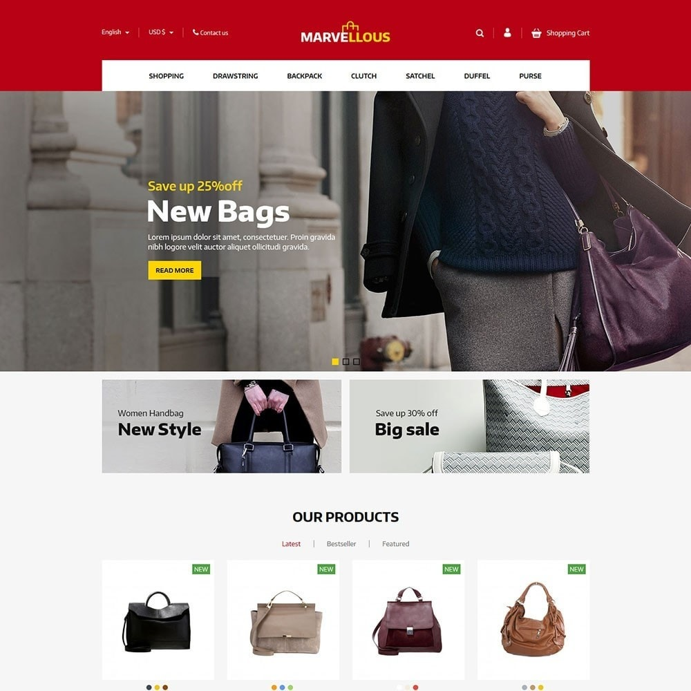 theme - Jewelry & Accessories - Marvellous - Bag Online Store - 2