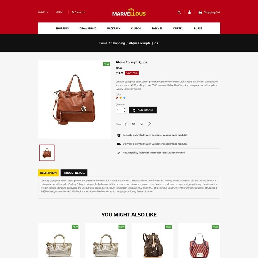 theme - Jewelry & Accessories - Marvellous - Bag Online Store - 5