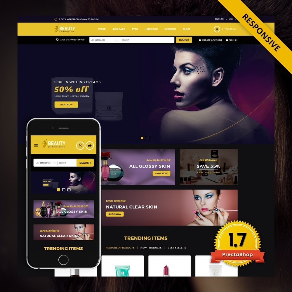theme - Health & Beauty - Beauty - The Cosmetic Store - 1