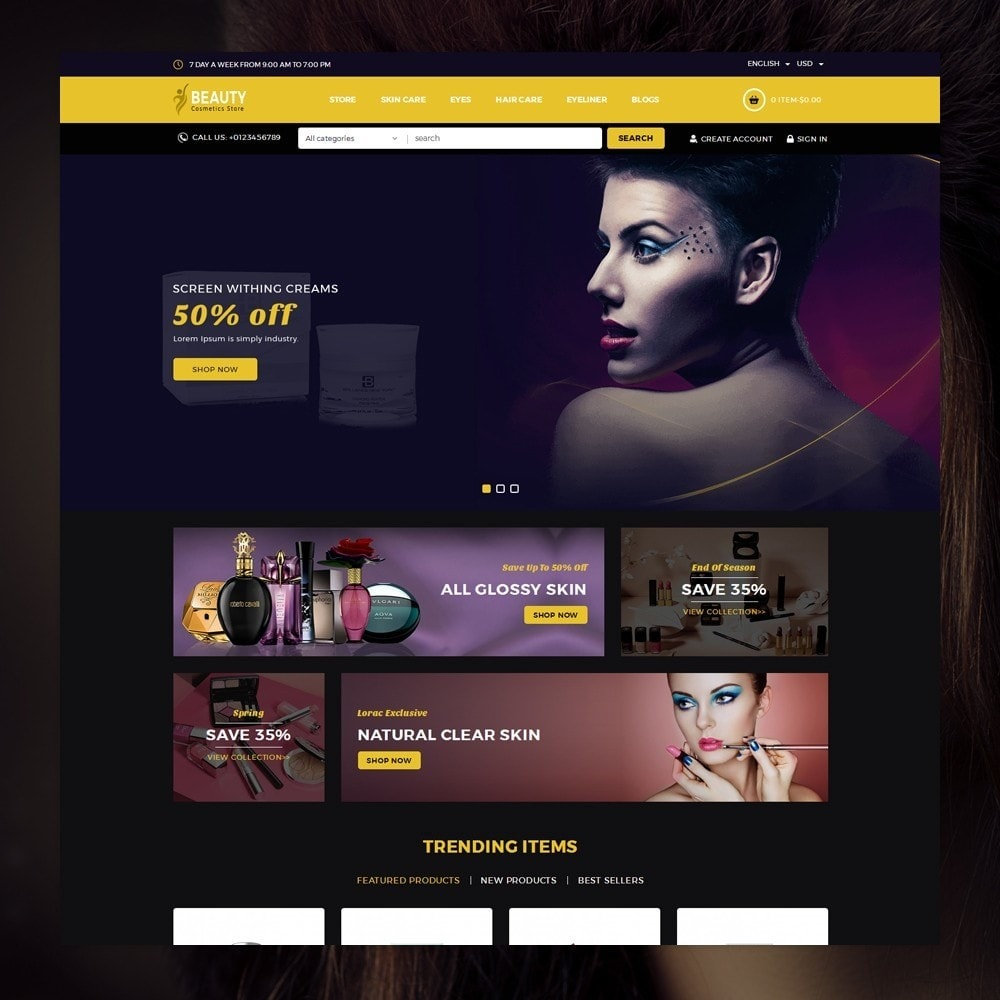 theme - Health & Beauty - Beauty - The Cosmetic Store - 2