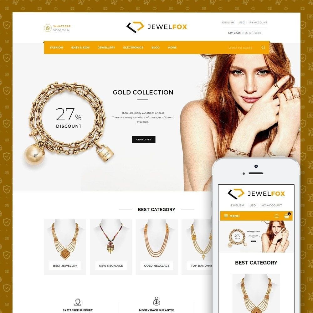 theme - Jewelry & Accessories - Jewelfox - Jewelry Store - 1