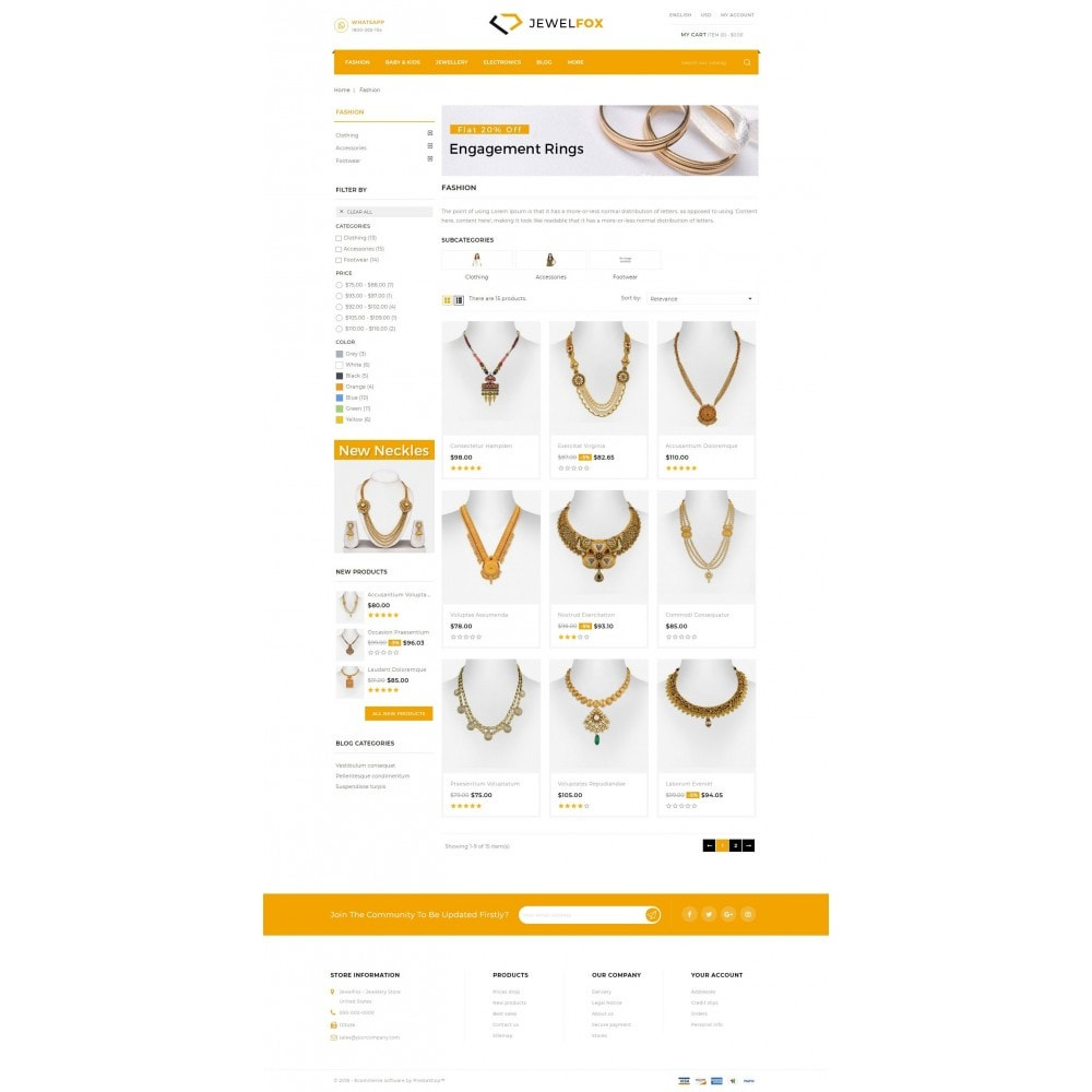 theme - Jewelry & Accessories - Jewelfox - Jewelry Store - 3