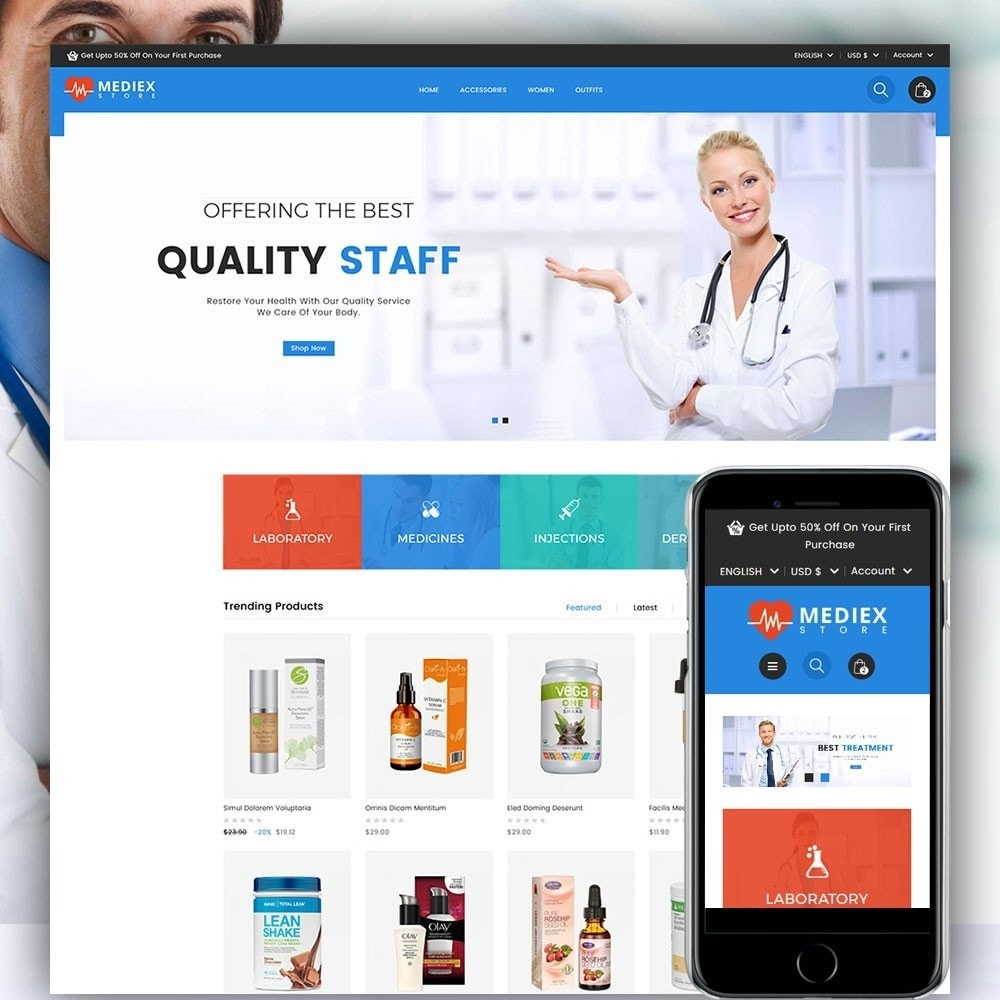 theme - Health & Beauty - Mediex Health and Medical Store - 1
