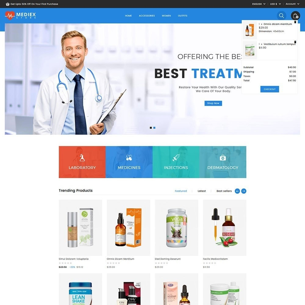 theme - Health & Beauty - Mediex Health and Medical Store - 2