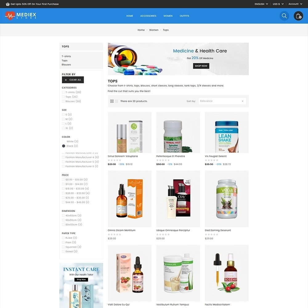 theme - Health & Beauty - Mediex Health and Medical Store - 4